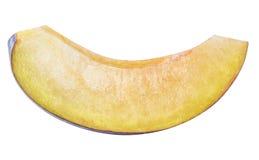Cut plum fruit isolated on white background Stock Images