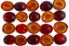 Cut Plums Royalty Free Stock Photography