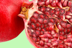 Cut pomegranate Royalty Free Stock Photos