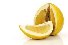 A cut pomelo fruit Royalty Free Stock Photography