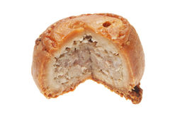 Cut pork pie Royalty Free Stock Photos