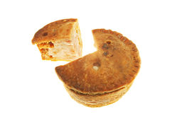 Cut pork pie Royalty Free Stock Image