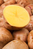 Cut potato Royalty Free Stock Images