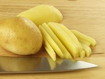 Cut potato Stock Photos
