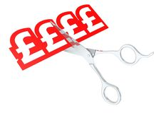Cut pound sign Royalty Free Stock Image