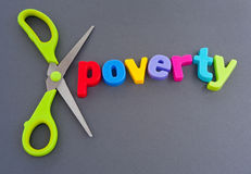 Cut poverty Royalty Free Stock Image