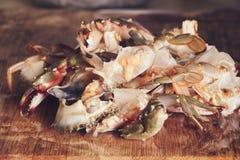 Cut or prepared crab Stock Image