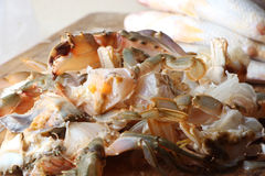 Cut or prepared crab Stock Photography