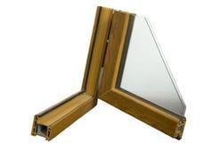 Cut of profiles of an aluminium window Stock Images