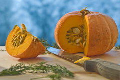 Cut pumpkin Stock Photography