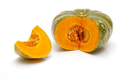 Cut  pumpkin isolated Stock Image