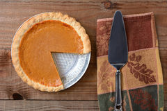 Cut Pumpkin Pie Stock Photos