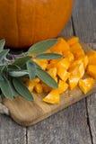Cut pumpkin Royalty Free Stock Photos