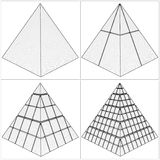 Cut Pyramid From The Simple To The Complicated Vector Royalty Free Stock Photo