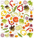 Cut raw vegetables Royalty Free Stock Photography