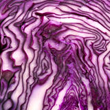Cut red cabbage Stock Photos