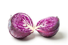 Cut Red Cabbage Royalty Free Stock Photos