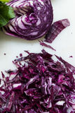 Cut red cabbage Royalty Free Stock Image