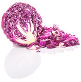 Cut Red Cabbage VI Stock Photos
