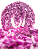 Cut Red Cabbage X Royalty Free Stock Photo