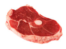 Cut of red meat. Cut of raw red meat, isolated on white background Stock Photos
