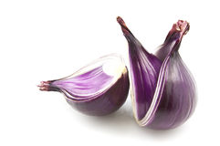 Cut Red Onion Royalty Free Stock Images