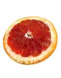 Cut red orange. Isolated on white Stock Photo