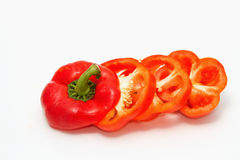 Cut red pepper Stock Image
