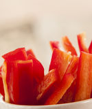 Cut red pepper close up Royalty Free Stock Image