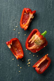 Cut red Pepper Vegetable Royalty Free Stock Images