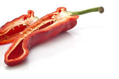 Cut Red Peppers Royalty Free Stock Photography
