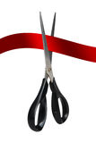 Cut red ribbon Royalty Free Stock Photos