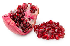 Cut red ripe pomegranate Stock Photography