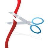 Cut ribbon Stock Photo