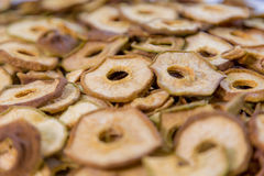 Cut in rings and dried fruits pear Royalty Free Stock Photos