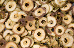 Cut in rings and dried fruits pear Royalty Free Stock Image