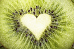 Cut a ripe kiwi Royalty Free Stock Images