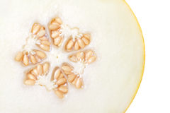 Cut ripe melon. Core in the form of a cross or a star Royalty Free Stock Image