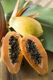 Cut ripe papaya Stock Photo