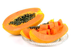 Cut Ripe papaya. Stock Images