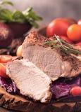 Cut roast pork steak Stock Image