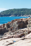 Cut Rock Shore on Maine Coast Stock Image