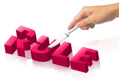Cut the rule Royalty Free Stock Image