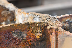 Cut Rusty Steel Detail Royalty Free Stock Image