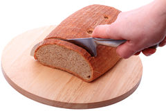 Cut rye bread Royalty Free Stock Photo