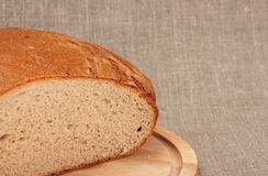 Cut rye bread Stock Images
