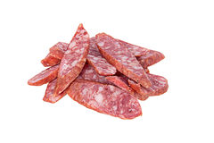 The cut salame Stock Images