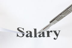 Cut in Salary Royalty Free Stock Photo