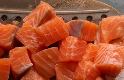 Cut salmon Royalty Free Stock Photography
