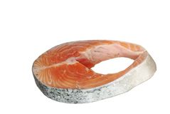 Cut salmon's fragment Royalty Free Stock Image